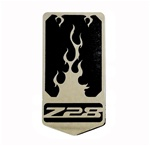 "1993 - 2002 Header Panel Emblem, ""Z28"" Logo with Flames on Shield, Custom, Black on Stainless Steel"