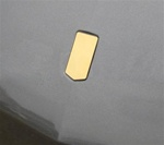 1993 - 2002 Header Panel Emblem, Blank without Logos or Lettering, Polished Stainless