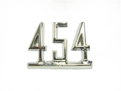 "1967 Fender Emblem, ""454"" Engine Size, Chrome, Each"