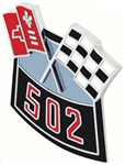 Air Cleaner Cross Flag Emblem, Die-Cast, 502