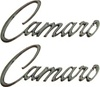 1968 - 1969 Camaro Fender Emblems, Script Logo Chrome Pair