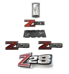1970 Camaro Complete Z28 Emblem Set for Z28, 5 Pieces