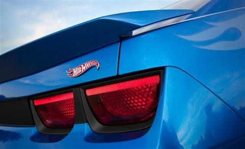 Hot Wheels Emblem, Custom Red and Chrome