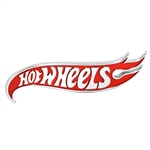 Hot Wheels Emblem, Custom Red and Chrome