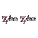 "1969 Fender Emblems, ""Z/28"" Logo, USA Made, Pair"