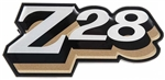 "1978 Fuel Door Emblem, ""Z28"" Logo, GOLD"