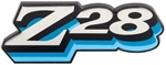 "1978 Fuel Door Emblem, ""Z28"" Logo, BLUE"
