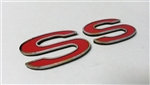 Custom Emblem, Super Sport SS, Choice of Color on Stainless Steel, Peel and Stick