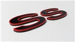 Custom Emblem, Super Sport SS, Choice of Colors on High Grade Plastic, Peel and Stick