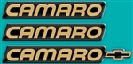 1988 Camaro Domed Emblem Decal Insert Kit, Choice of Color