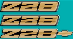 1991 - 1992 Camaro Z28 Domed Emblem Decal Insert Kit, Choice of Color