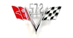 "572 Custom ""V"" Flag Engine Size Emblem"