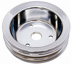 1967 - 1968 Camaro Crankshaft Pulley, Small Block, 3 Groove, Chrome | Camaro Central