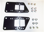LS Engine Conversion Mount Adapter Brackets with Hardware, Billet Aluminum Black Anodized