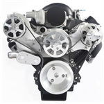 LS Chevy Billet Aluminum Complete S-Drive Serpentine Kit with A/C and Without Power Steering Reservoir