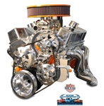 Chevy Small Block Billet Aluminum Complete  V-Drive V-Belt Kit WITHOUT A/C and w/ BILLET Power Steering Reservoir