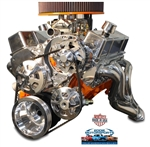 Chevy Small Block Billet Aluminum Complete V-Drive V-Belt Kit WITHOUT A/C and and for Remote Power Steering Reservoir