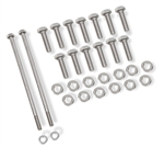 GM LS Oil Pan Mounting Hardware Set, Stainless Steel Bolts