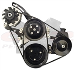Chevy Small Block Complete Front Engine Pulley, Bracket, Water Pump, P/S Pump & Alternator Set