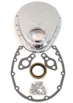 1967 - 1991 Timing Chain Cover, Small Block, Polished Aluminum