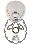 1967 - 1991 Timing Chain Cover, Small Block, Chromed Aluminum