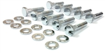 Timing Chain Cover Bolts Set, LT-1, Chrome, 20 Pieces