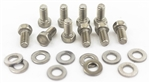 1967 - 1981 Camaro Timing Chain Cover Bolts Set, Stainless Steel 10 Pieces