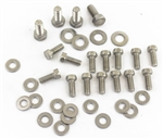 1967 - 1979 Oil Pan Bolts Set, Chevy Small Block, Stainless Steel