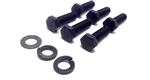 1967 - 1981 Chevy Camaro Automatic Transmission to Engine Block Mounting Bolts Set, Correct TR Heads, 6 Bolts and 3 Washers