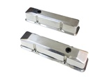 1967 - 1986 Camaro Valve Covers, Small Block, Polished Aluminum, Tall Style