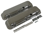 1967 - 1974 Valve Covers, Big Block Chevy, Polished Aluminum