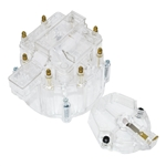 V8 GM Style CLEAR HEI Distributor Cap and Rotor Kit, See-Thru