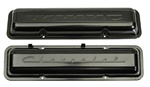 1967 Small Block Script Valve Covers Pair Black