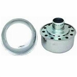 "Valve Cover Breather Cap, Chrome Push-In, 1"" Diameter"