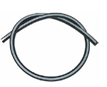 "Rubber Engine Vacuum Hose with White Stripe, 5/32"" Diameter, 2 Foot Length"
