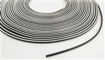 "White Stripe Vacuum Hose 5/32"" Diameter, Sold Per Foot"
