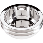Camaro Billet Aluminum Crank Pulley, Big Block 2 Groove, Long Water Pump