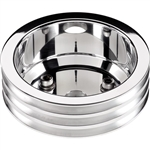 1969 - 1981 Camaro Crank Pulley, Big Block 3 Groove Billet Aluminum for Long Water Pump