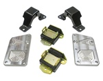 1967 - 1969 Engine Mount Brackets Kit (DSE), LS: Mounts, Frame Stands, Adapter Plates, and Hardware