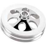 Power Steering Pump Pulley, Press-On Style, 2 Groove, Billet