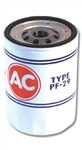 1968 - 1969 Camaro V8 AC PF-29 Oil Filter Red, White and Blue, Long OE Style