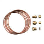Copper Oil Tubing Pressure Line & Fitting Kit, 72""