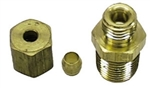 1967 - 1973 Camaro Oil Pressure Line Fitting Nut and Sleeve, Block Side