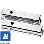 Billet Specialties Small Block Valve Covers, Polished Billet Aluminum with Bowties