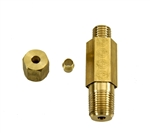 1967 - 1973 Oil Pressure Line Fitting Nut and Sleeve, Block Side, Tall