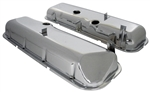 1967 - 1972 BBC  Chrome Valve Covers, Big Block, Dent / Slant