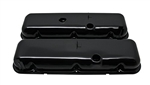1965 - 1995 CHEVY BIG BLOCK 396, 427, & 454 TALL BLACK STEEL OE STYLE VALVE COVER SET WITHOUT DRIPPERS, SHORT