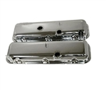 1967 - 1972 Valve Covers, Big Block, Chrome, OE Style but Taller Cheater Version
