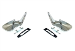 1968 - 1969 Camaro Exterior Door Mirrors Set, Chrome, Pair of LH and RH