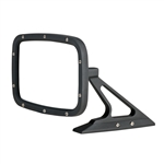 Flat Black Rectangular Billet Aluminum Side View Mirror with Convex Glass